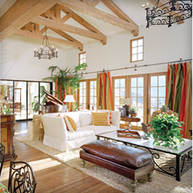 Boot Ranch interior living area