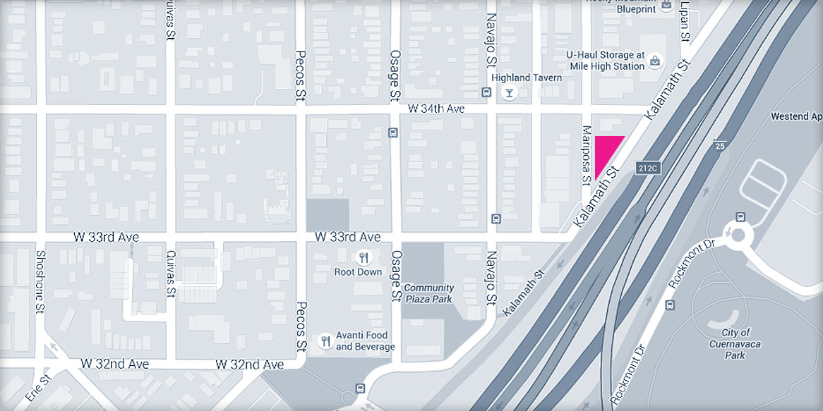 Meriwether co triangle apartments map of triangle apartments location in denver colorado malvernweather Choice Image